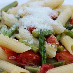 Penne con Asparagi e Pomodorini (Asparagus and Cherry Tomatoes)