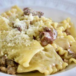 Lagane con Castagne e Salsiccia (Chestnuts)