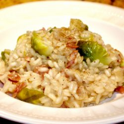 Risotto al Cavolini di Bruxelles e Pancetta (Brussels Sprouts)