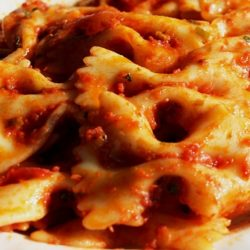 Farfalle all'Arrabbiata (Spicy Tomato Sauce)