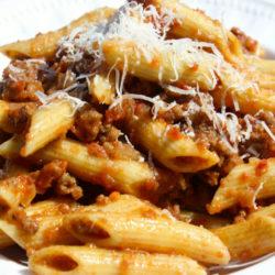 Penne Strascicate (Meat Sauce)