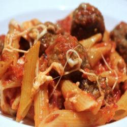 Penne al Forno con le Polpettine (Meatballs)