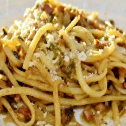 Spaghetti con Cavolini di Bruxelles