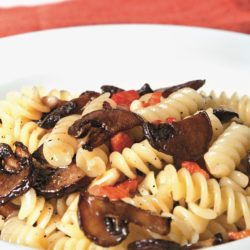 Fusilli con Funghi, Pancetta e Pinoli (Mushrooms and Pine Nuts)