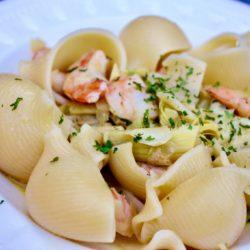 Tagliolini con Gamberi e Carciofi (Shrimp and Artichokes)