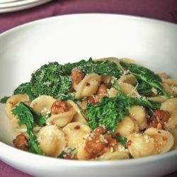 Orecchiette con Rapini e Salsiccia (Broccoli Rabe and Sausage)