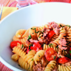 Fusilli con Tonno e Pomodorini (Tuna and Cherry Tomatoes)