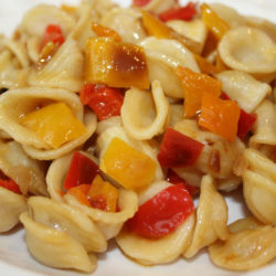 Orecchiette con Peperoni Misti (Mixed Peppers)