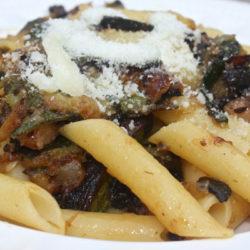 Penne con Zucchine e Pancetta