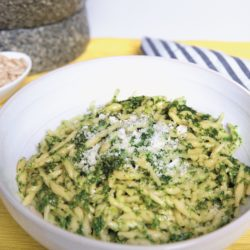 Trofie al Pesto Genovese (Basil Pesto Sauce)