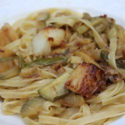 Tagliolini con Capesante e Zucchine (Scallops and Zucchini)